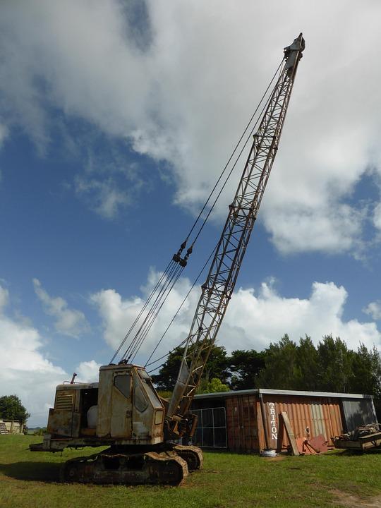 Crane, Vintage, New Zealand, Machinery, Rust