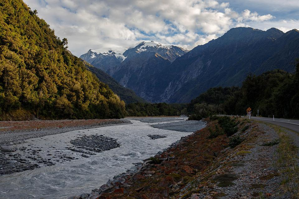 New Zealand, Mountains, Glacier, Tourism, Sunny Days