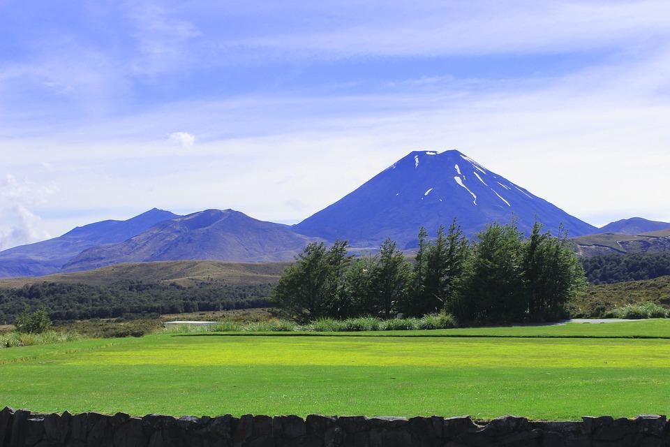 New Zealand, Mount Ngauruhoe, Landscape, Mountain