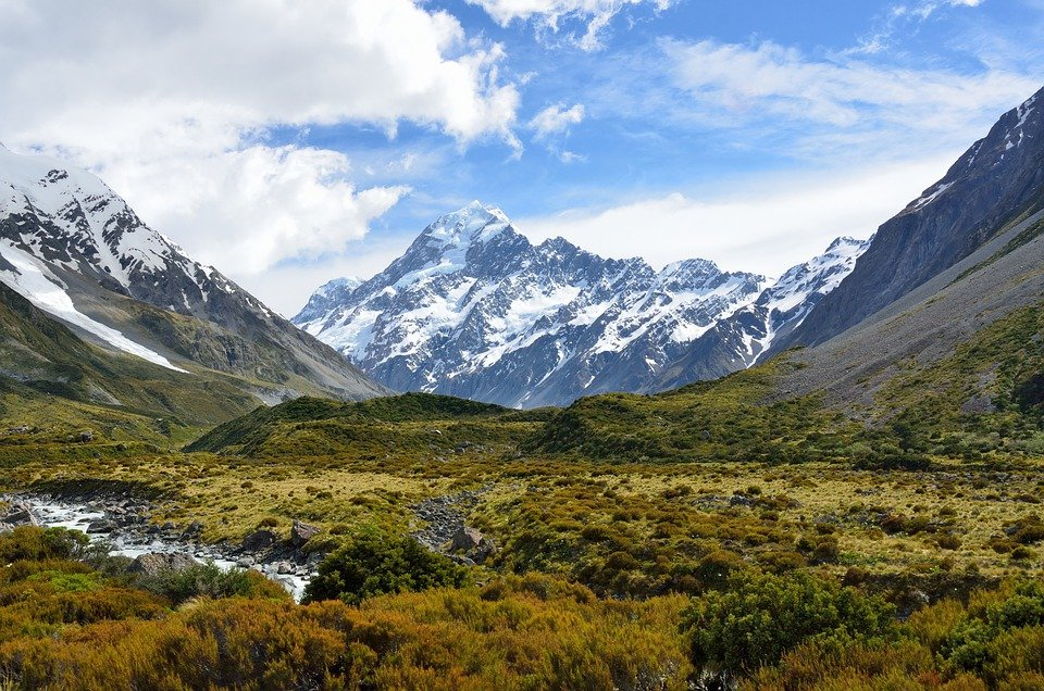 Aoraki, Mount Cook, Mountain, New Zealand, Alpine, Sky