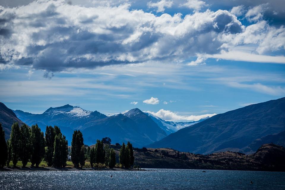 Wanaka, New Zealand, New, Lake Wanaka, Mountains, Cloud