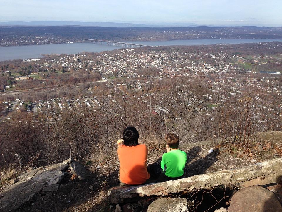 Hudson River, Panoramic View, Newburg, Beacon, Bridge