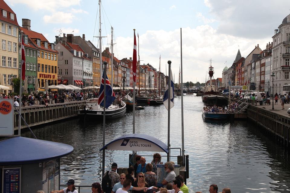 Denmark, Copenhagen, Newport, River, Tube, Riverside