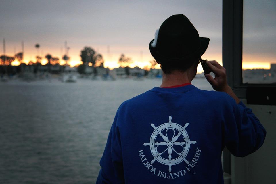 Man, Telephoning, Making Phone Call, Balboa, Newport