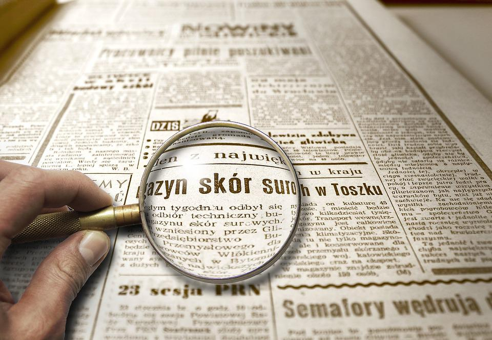 Newspaper, Magnifying Glass, Magnifier, News, Zoom