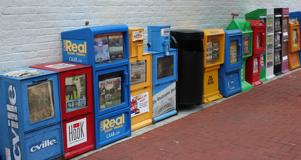 Newspapers, Pamphlets, Vending Machines, Flyers