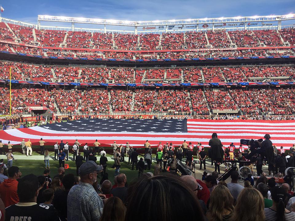 American, Football, Stadium, Flag, Nfl, Game, Team