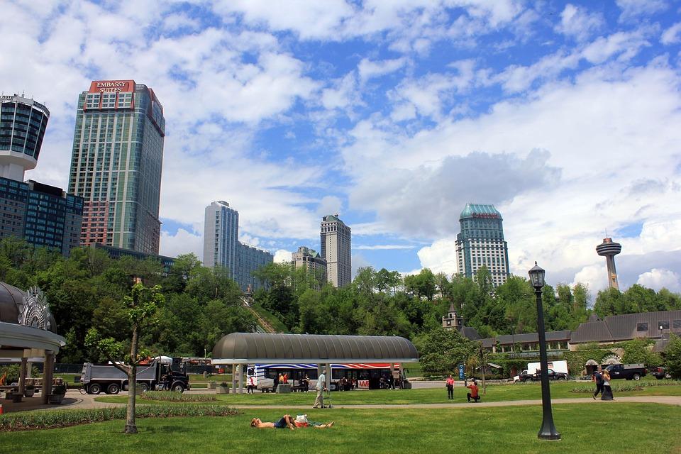 Niagara Falls, Downtown, Town, Canada, Ontario, City