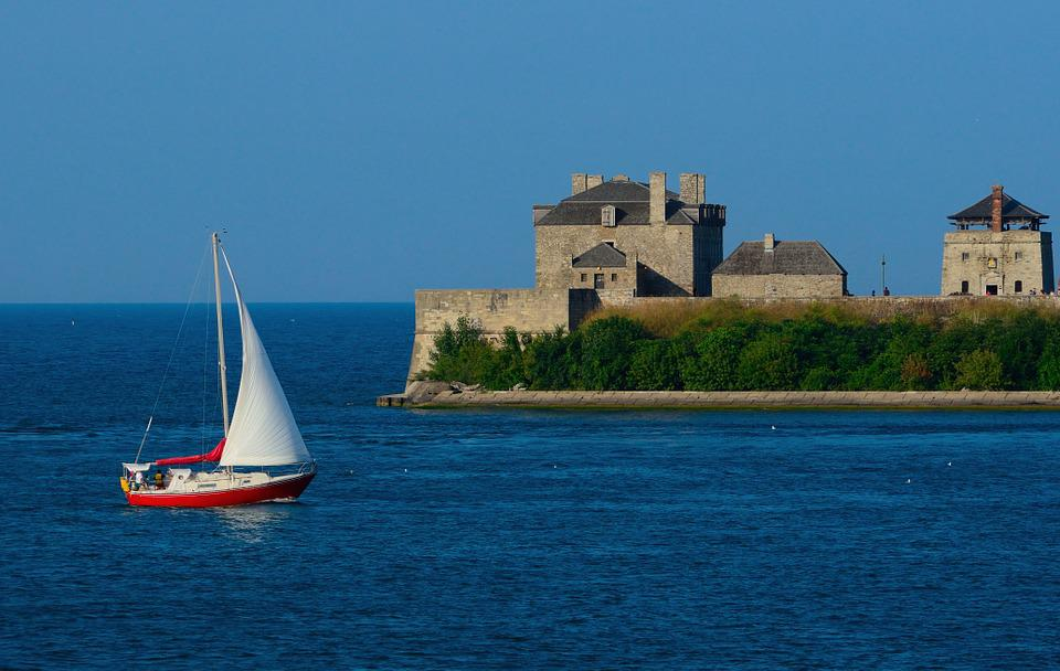 Sailboat, Fort Niagara, Niagara River, Sailing
