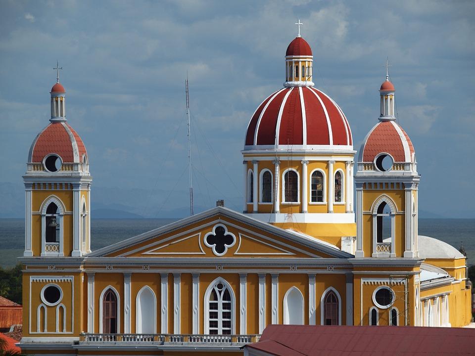 Nicaragua, Cathedral, Granada, Central America