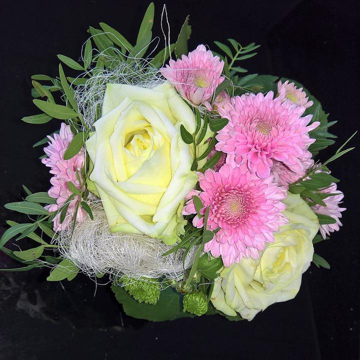 Bouquet, Nice Compilation, Close, Black Background