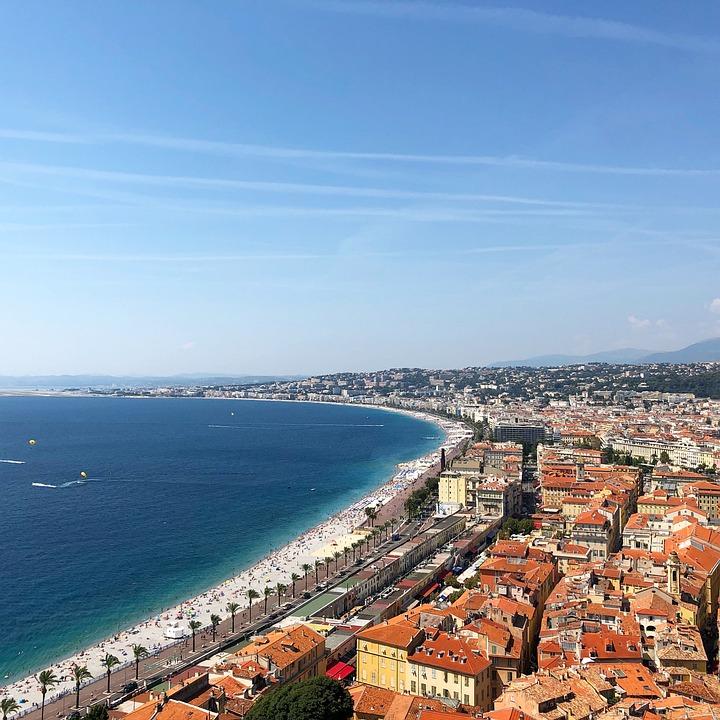 Nice, France, Riviera, Sea, Water