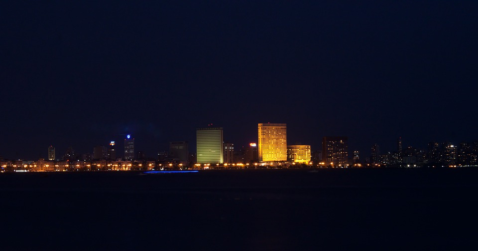 Mumbai, Night, Skyline, Bombay, Buildings, City, Urban