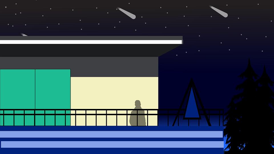 Night, Landscape, Urban, Modern, Building, Indoor, Sky