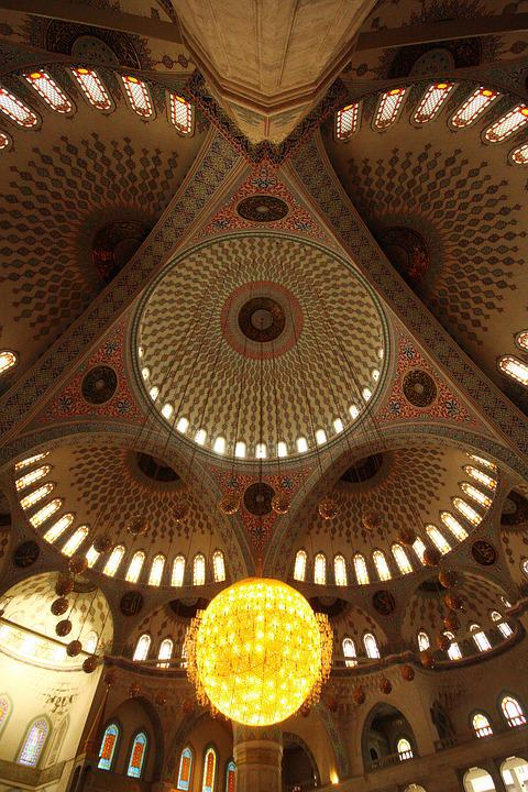 Cami, Light, Chandelier, Lighting, Bulb, Night, Islam