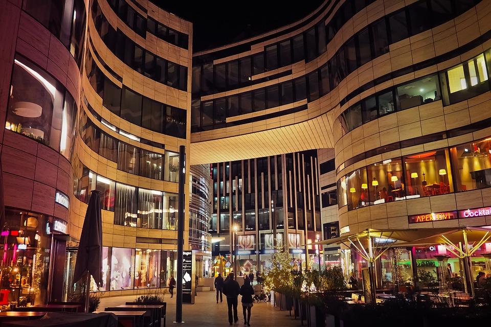 Architecture, Night, City, Building, Lighting