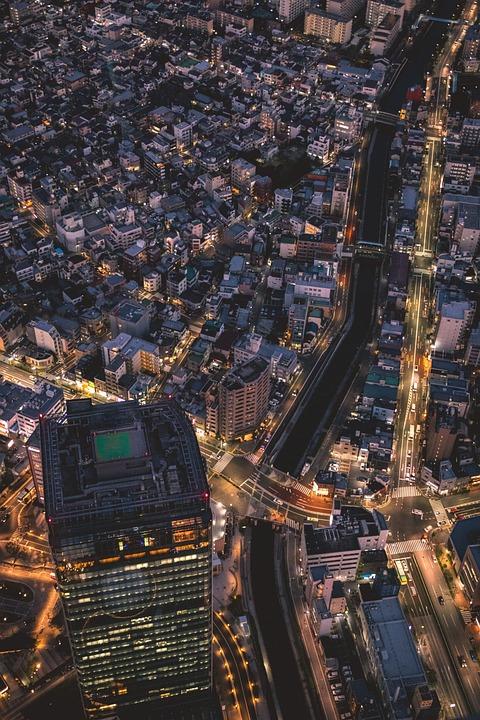 Skyline, Night, Big City, Metropolis, Tokyo, City