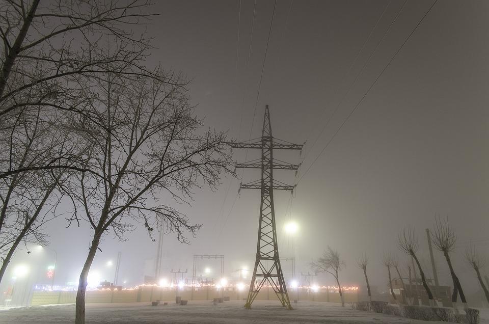 Lep, Electricity, Mist, Power, Night, Sky, Winter, City