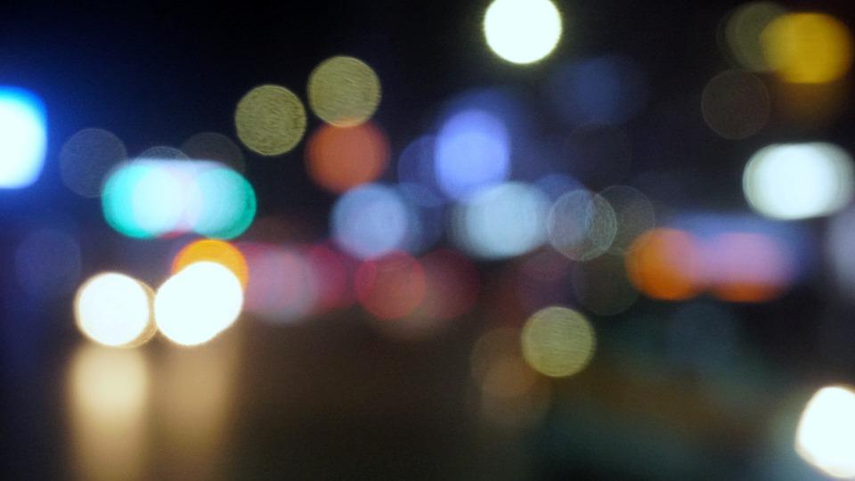 Spot, Cool Colors, Night, Bokeh