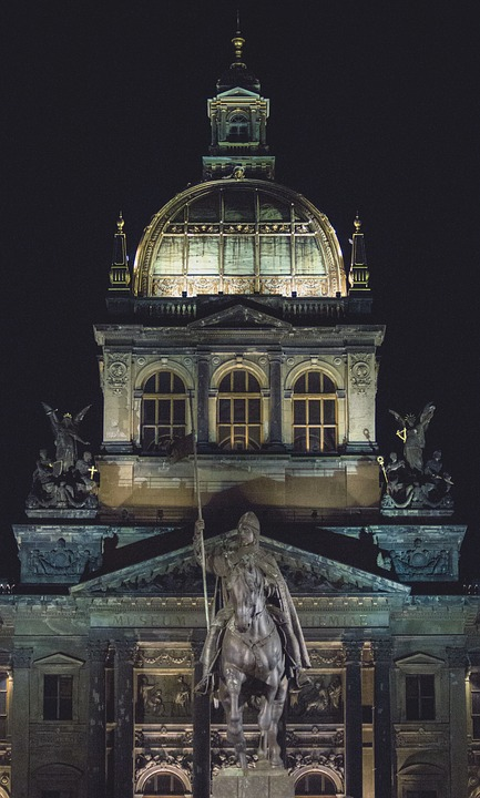 Prague, Night, Architecture, Building, Czech Republic