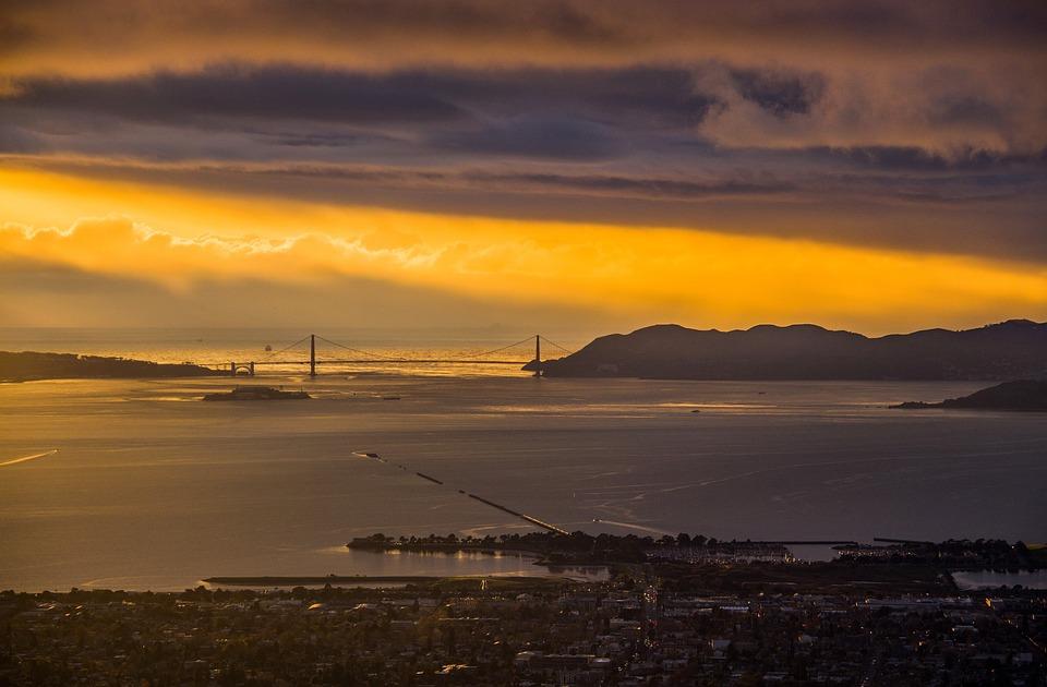 Background, Sanfrancisco, Sunset, Light, Night, Dark