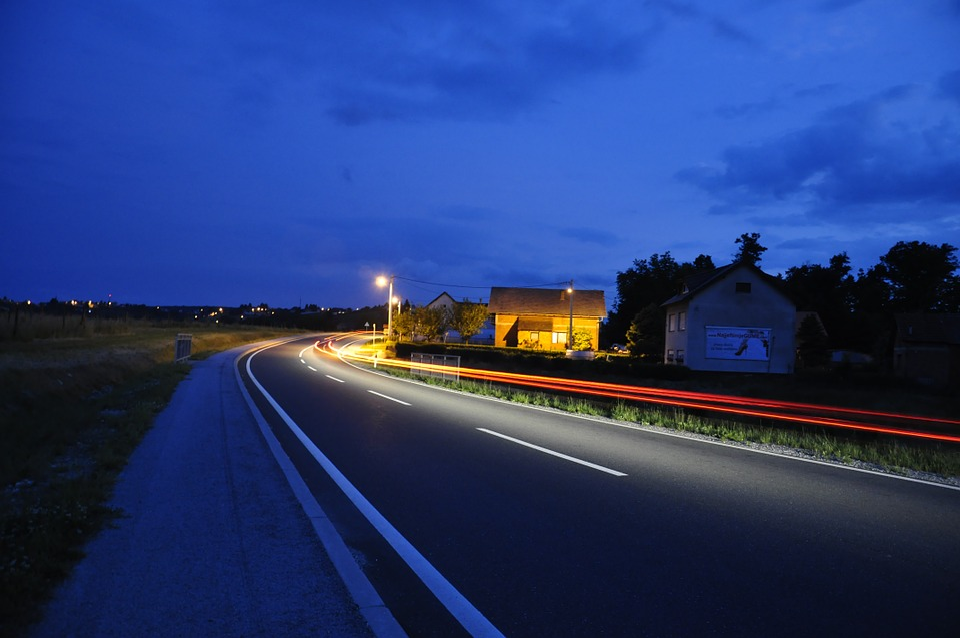 Auto, Night, Lights, Road, Dark, Vehicle, Dazzle