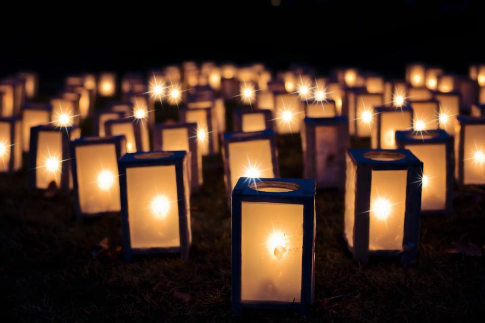 Lights, Christmas Luminaries, Night, Dark, Decoration