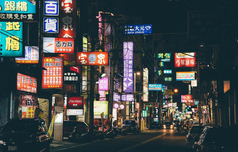Asia, Chinatown, City, Asian, Downtown, China, Night