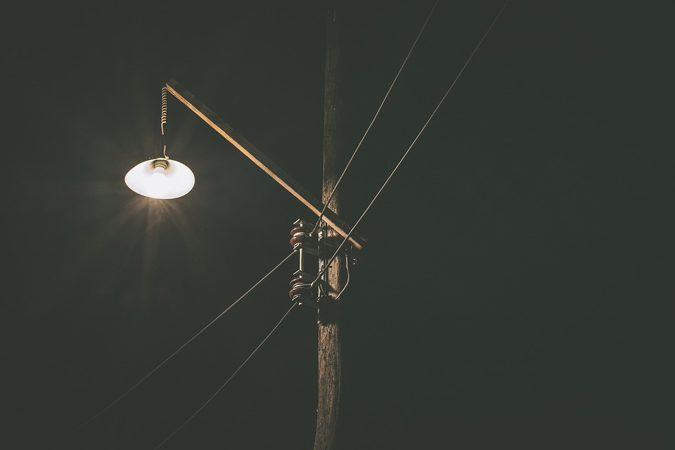 Bright, Dark, Electricity, Evening, Night, Street Lamp