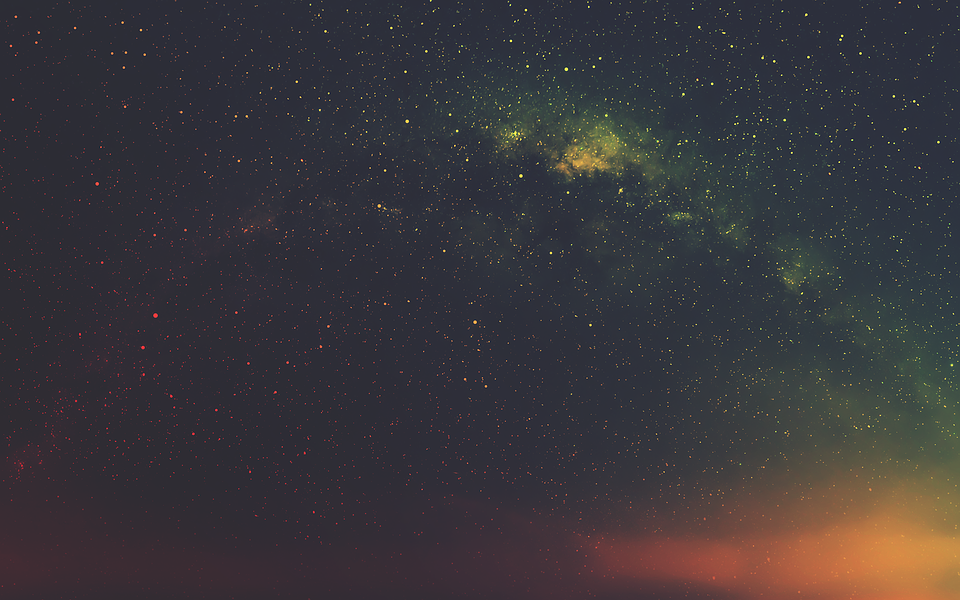 Sky, Night, Galaxy, Milky Way, Stars, Black