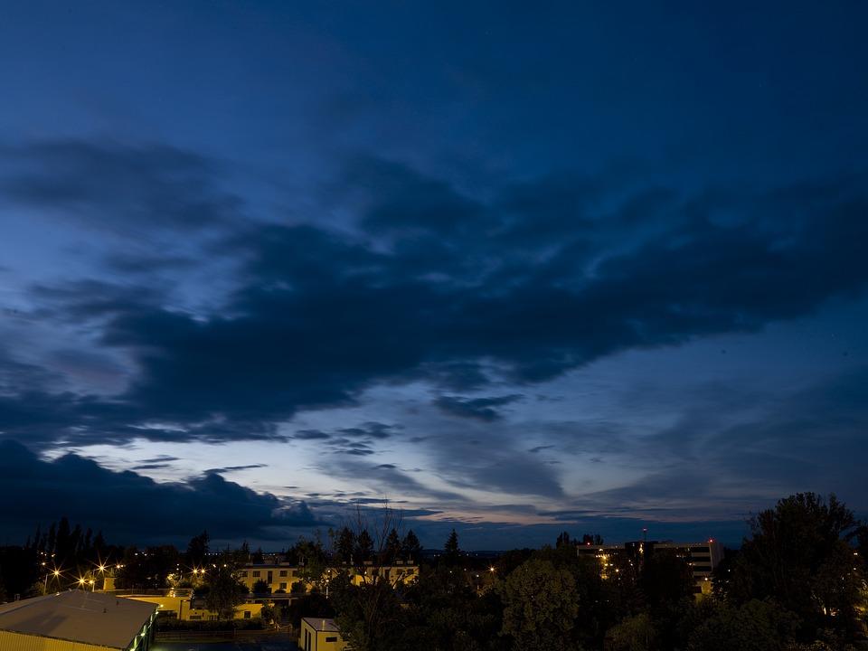 Night, Sky, Landscape, Sunset, Blue, Heaven, Park