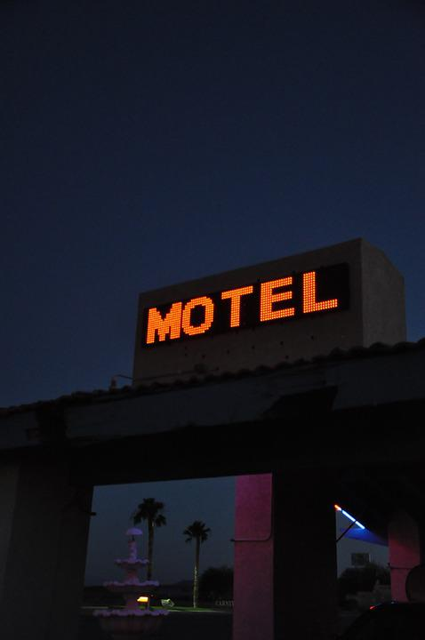 Motel, Night, Neon, Nevada, Hotel, Sleeping, Sleep