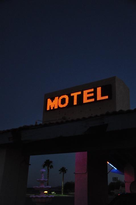 Motel, Night, Neon, Nevada, Hotel, Sleeping, Sleep