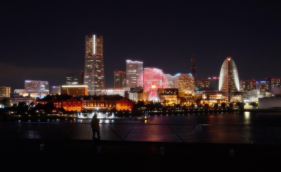 Yokohama, Night View, Night, Japan, Building