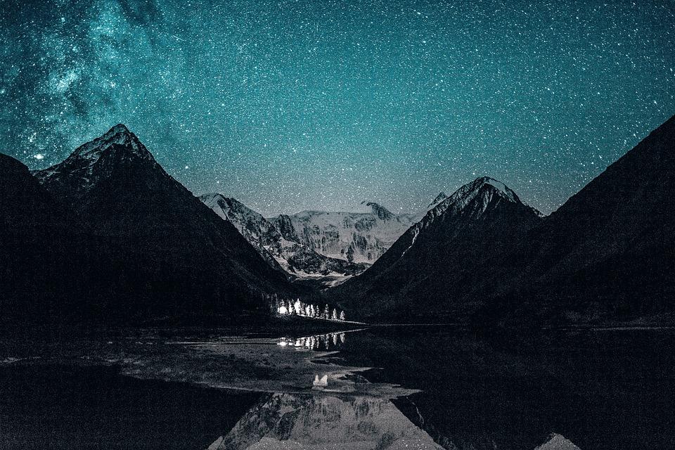 Star, Night, Galaxy, Stars, Space, Universe, Landscape