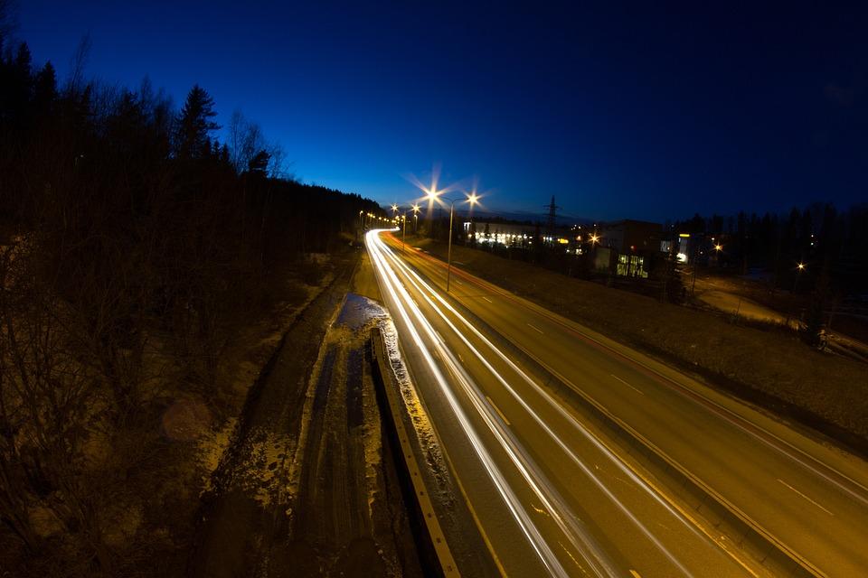 Light Rails, Light, Evening, Stemini, Night, Norway