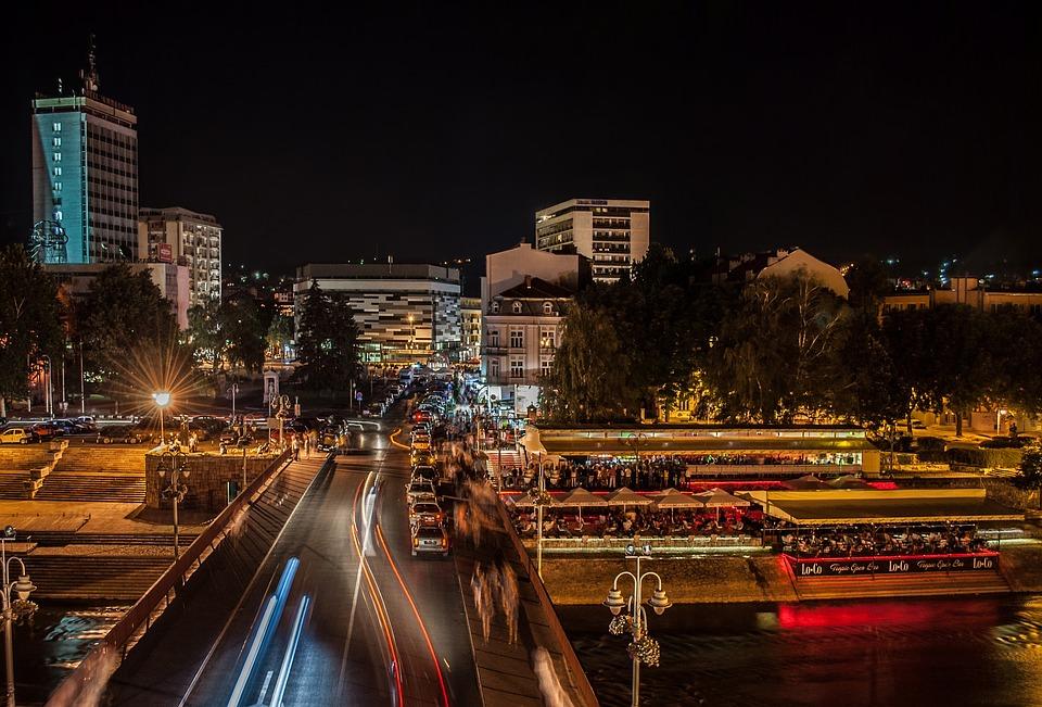 Skyline, Night, Long Exposure, City, Urban, Night City