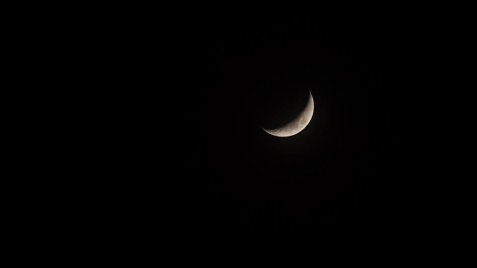 Crescent Moon, Moon, Waxing Moon, Night, At Night, Sky