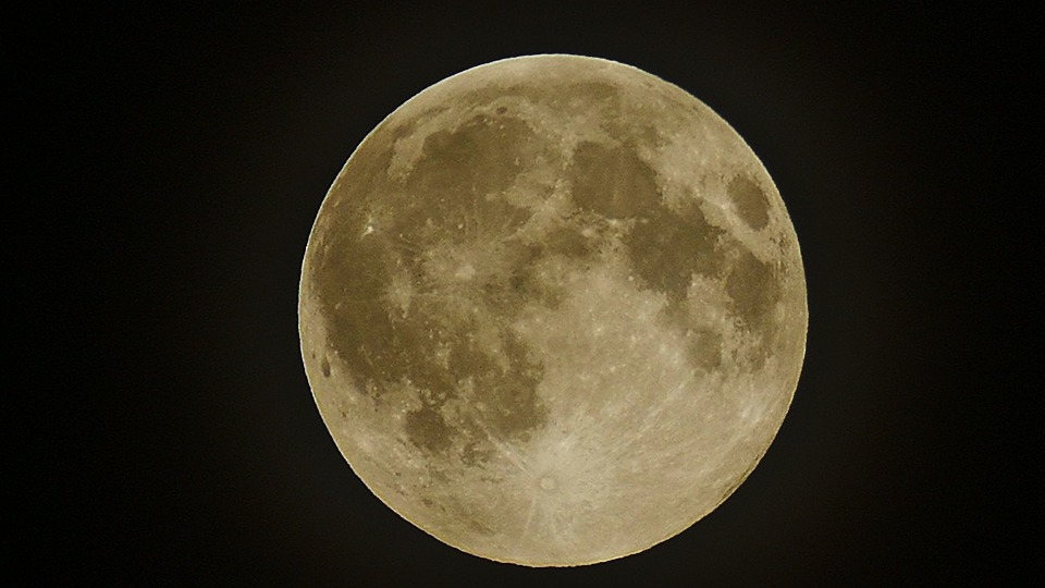 Full Moon, Moon, Night, Celestial Body, Crater
