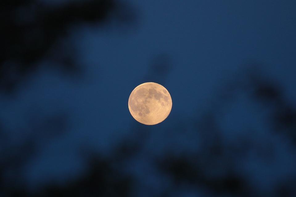 Moon, The Fullness Of, Night, Super Moon, Full Moon