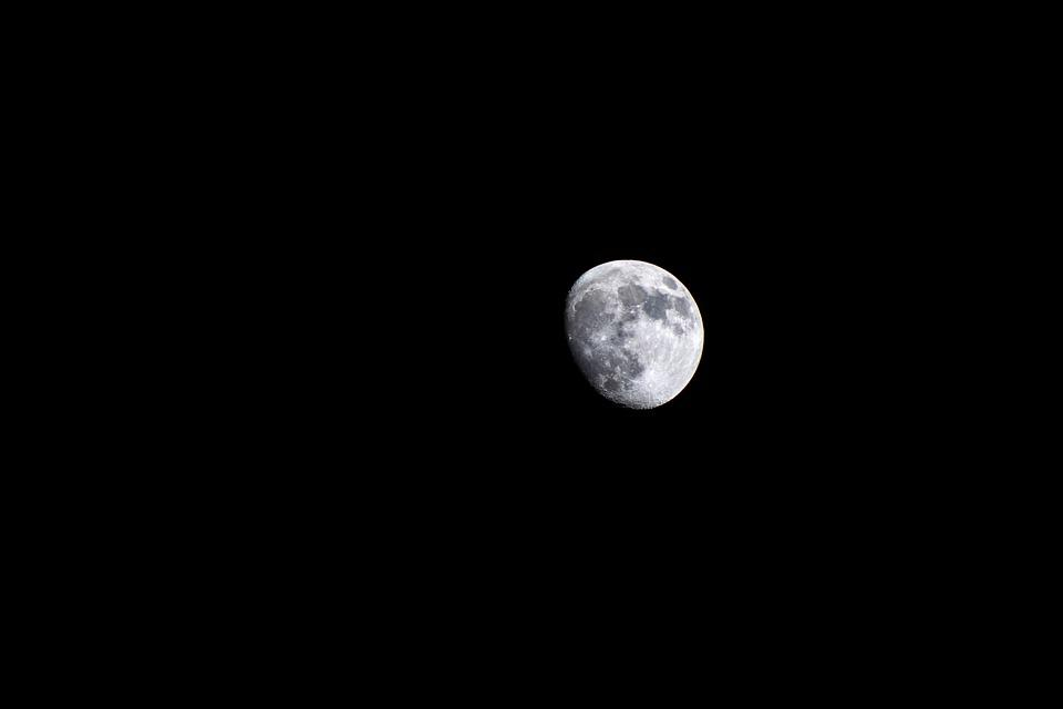 Moon, Sky, Night, Moonlight, Astronomy, Dark, Universe