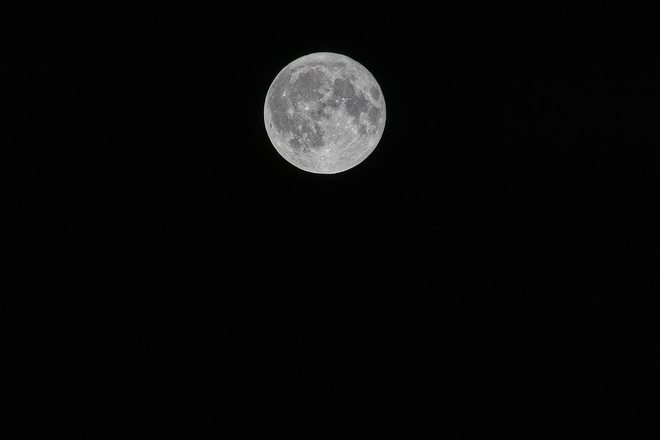 Moon, Night, Full Moon, Moonlight, Landscape, Fantasy