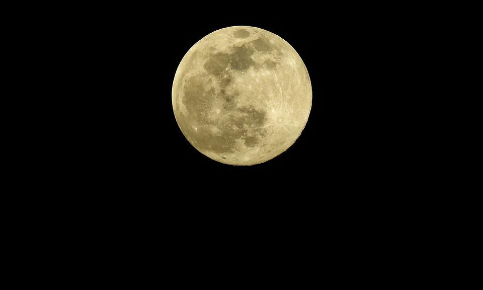 Moon, Sky, Night, Full Moon, Moonlight, Lunar