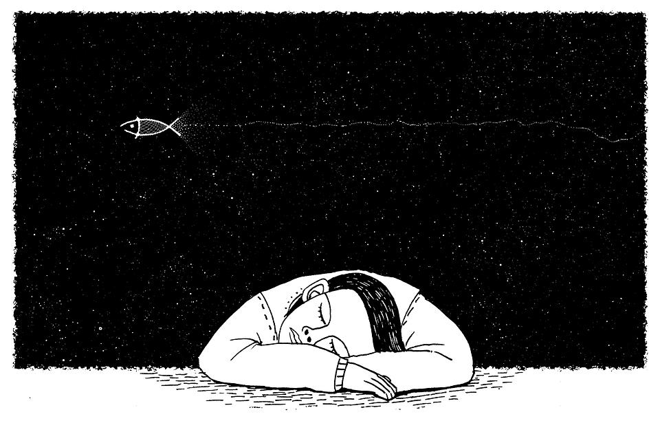 Fairy Tale, Night, Music, Fish, Sky, Fly, Flight, Sleep