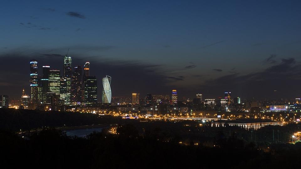 Moscow, Night, City, Night City, Night Lights