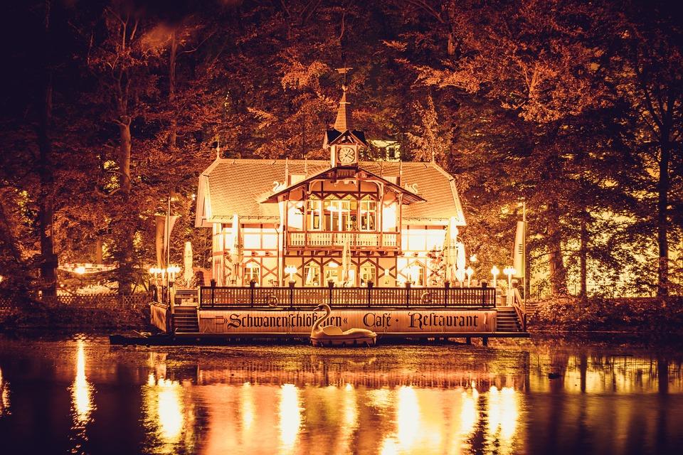 Restaurant, Night Photograph, Historically