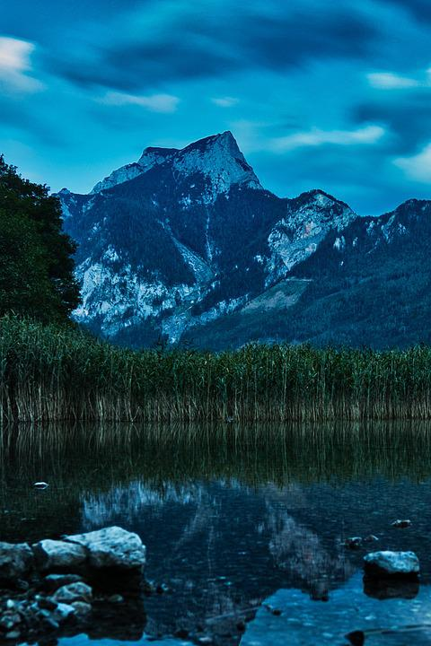 Long Exposure, Night Photograph, Night, Evening, Lake