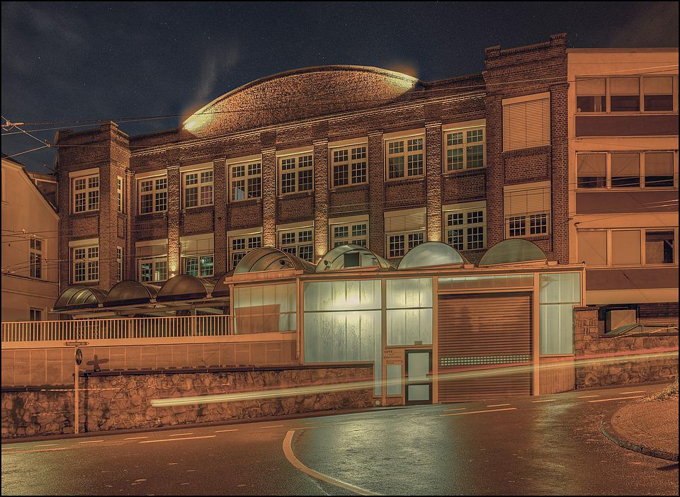 Architecture, Factory, Night Photography, Building, Hdr