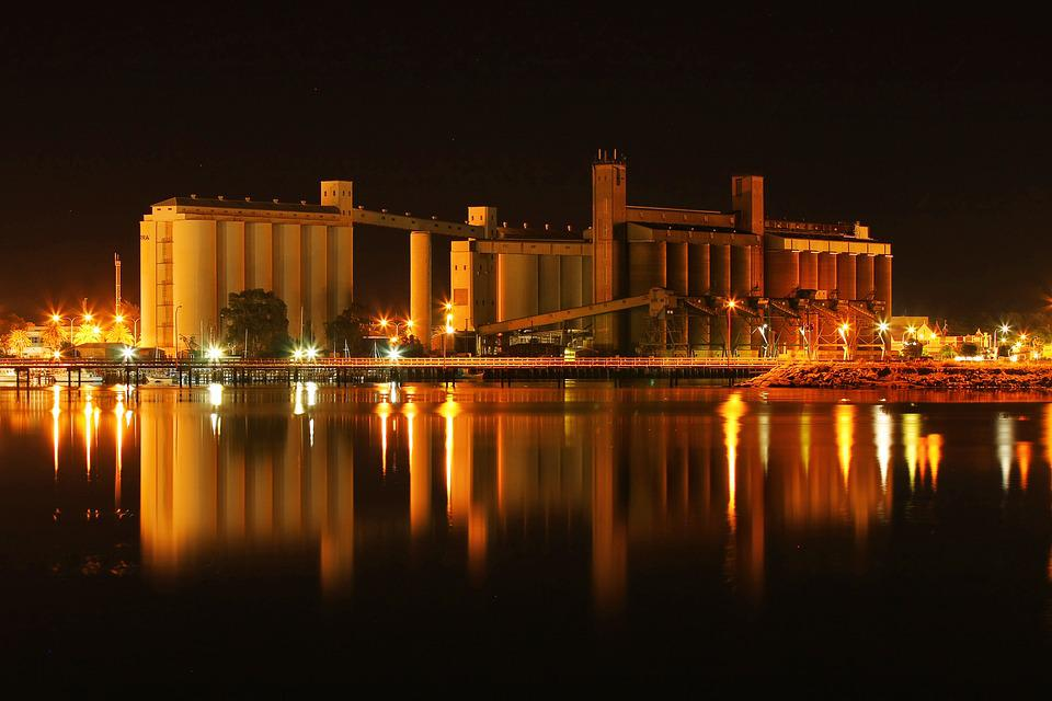 Port Augusta, Australia, Night, Port, Reflection
