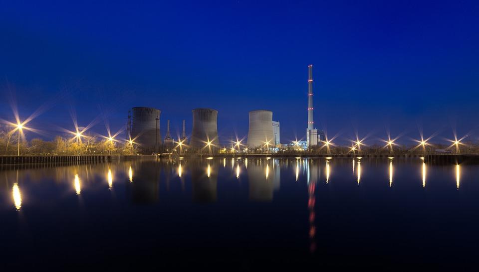 Power Plant, Night, Energy, Power Supply, Power Station